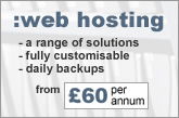 web hosting from £60